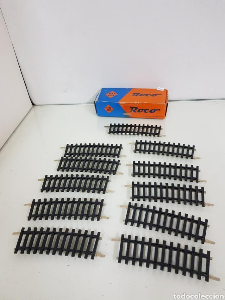 Trenes Escala: Lote de 11 vías curvas pequeñas 8 cm escala H0 Roco - Foto 3 - 171035095