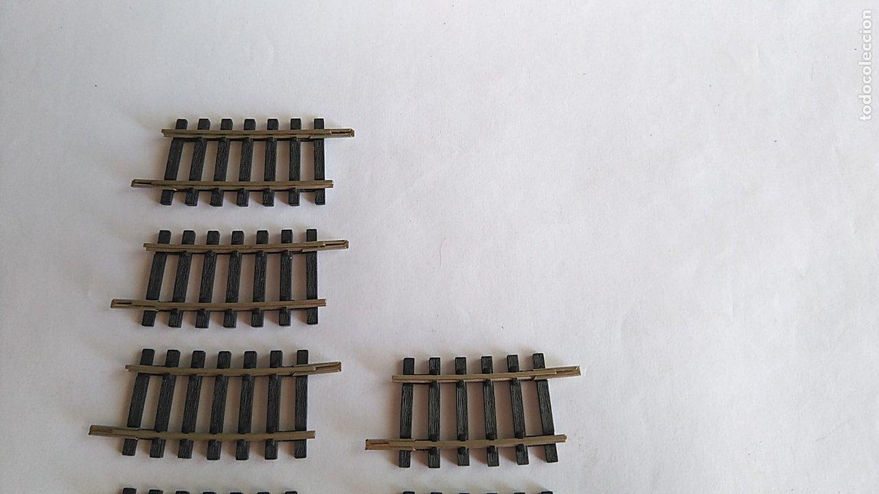 Trenes Escala: ROCO H0 LOTE DE CURVAS, VARIOS TAMAÑOS. VÁLIDO MATERIAL RODANTE IBERTREN,FLEISCHMANN,ETC - Foto 4 - 173969517