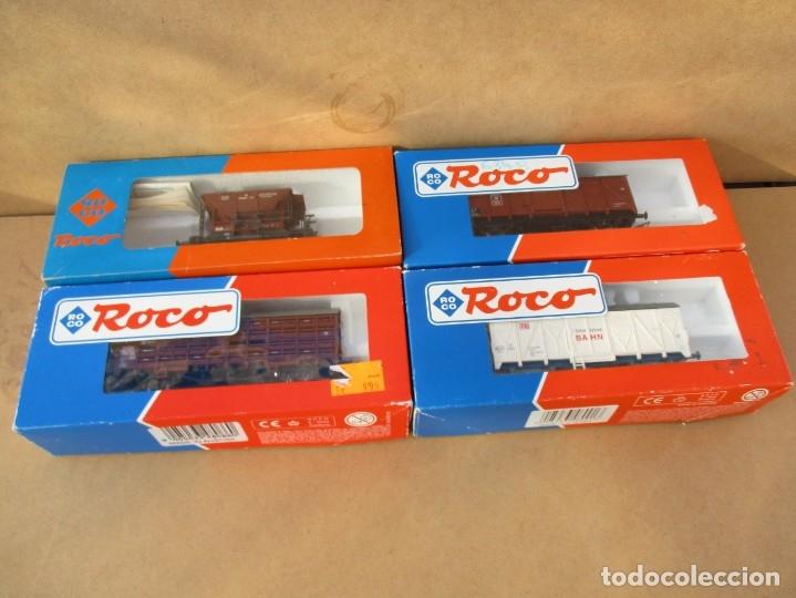 ROCO TRES CERRADOS Y UNO TOLVA (Juguetes - Trenes a Escala H0 - Roco H0)
