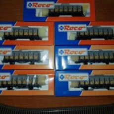Trenes Escala: ROCO HO SET 7 WAGEN ELSASS LOTH 47723. Lote 180989590