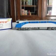 Trenes Escala: ROCO H0 62720 LOCOMOTORA DIÉSEL RENFE 333 DIGITAL CON SONIDO NUEVA. Lote 182331807