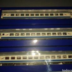 Trenes Escala: ROCO HO SET 3 VAGONES PASAJEROS DANONES 64530, 64532, 64536 1, 2 Y RESTAURANTE. Lote 190984031