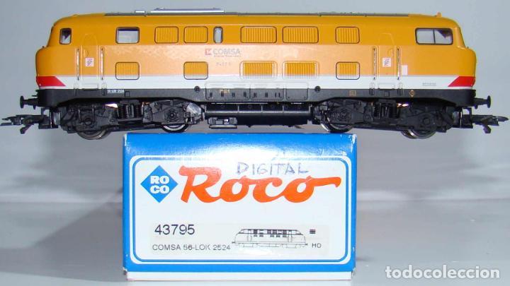 Trenes Escala: LOCOMOTORA DIESEL COMSA DE ROCO REF: 43795 DIGITALIZADA ESCALA H0 - Foto 2 - 191438681