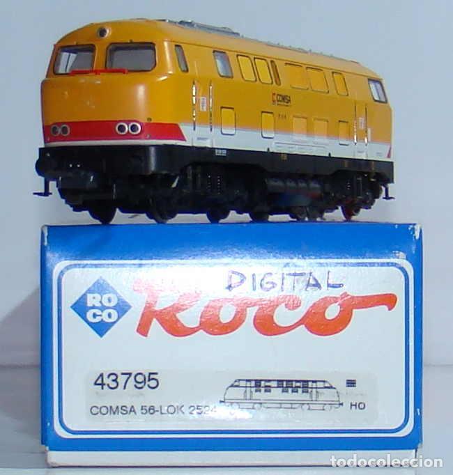 LOCOMOTORA DIESEL COMSA DE ROCO REF: 43795 DIGITALIZADA ESCALA H0 (Juguetes - Trenes a Escala H0 - Roco H0)