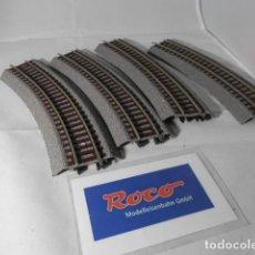 Trenes Escala: LOTE VIAS CURVAS ESCALA HO DE ROCO . Lote 193788227