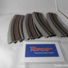 Trenes Escala: LOTE VIAS CURVAS ESCALA HO DE ROCO . Lote 193788302