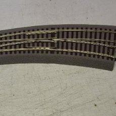 Trenes Escala: ROCO H0 1 DESVIO CURVO A DCHAS BWR 5/6 ROCO LINE REFª 42571, MÁS 2 PEQUEÑOS TRAMOS COMPLEMENTARIOS.. Lote 194987728