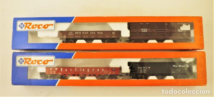 ROCO 4898 Y 4899 VAGONES ESTADOUNIDENSES DE CARGA (2 REFERENCIAS) (Juguetes - Trenes a Escala H0 - Roco H0)