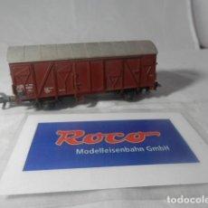 Trenes Escala: VAGÓN CERRADO ESCALA HO DE ROCO . Lote 199000072