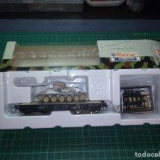 Trenes Escala: ROCO MINITANKS (874) H0 DRG EPII CON T34. 1/87. Lote 204079013