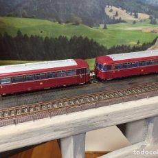 """Trenes Escala: ROCO AUTOMOTOR VT98 CON REMOLQUE, """"ABUELO"""" ALEMÁN, NO FUNCIONA. Lote 204250847"""