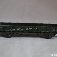 Trenes Escala: VAGÓN PLATAFORMA BORDE BAJO VERDE DB. ESC. H0. ROCO. ROMANJUGUETESYMAS.. Lote 204684590