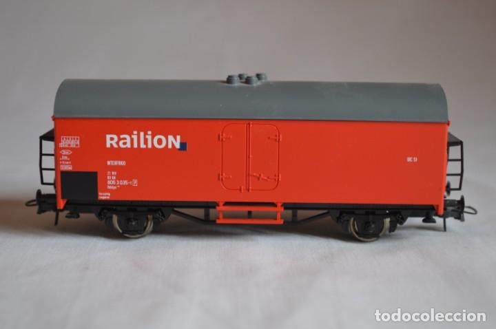 Trenes Escala: Vagón mercancías interfrigo Railion. Esc. H0. Roco. romanjuguetesymas. - Foto 2 - 204686446