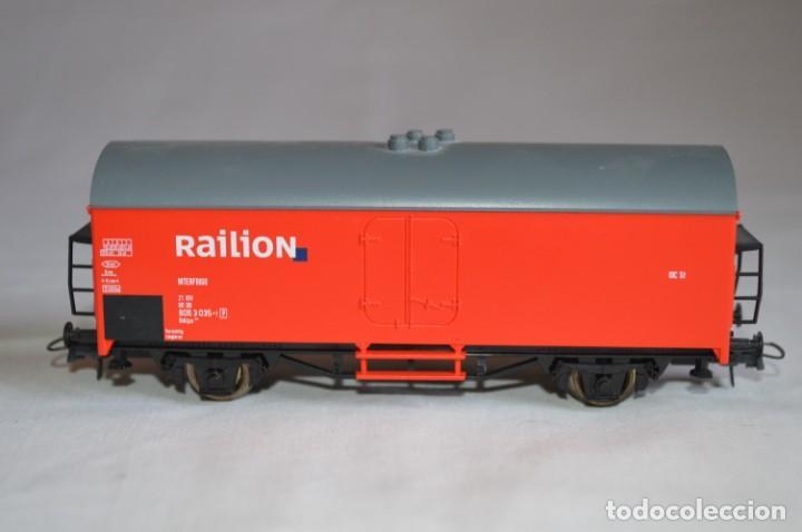 Trenes Escala: Vagón mercancías interfrigo Railion. Esc. H0. Roco. romanjuguetesymas. - Foto 4 - 204686446