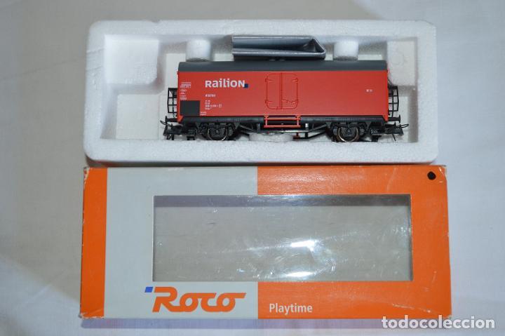 Trenes Escala: Vagón mercancías interfrigo Railion. Esc. H0. Roco. romanjuguetesymas. - Foto 10 - 204686446