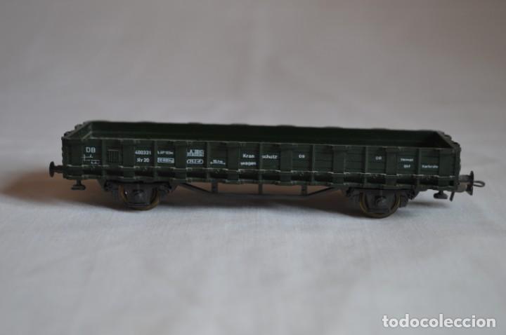 Trenes Escala: Vagón plataforma borde bajo verde DB sólo un enganche. Esc. H0. Roco. romanjuguetesymas. - Foto 3 - 204687930