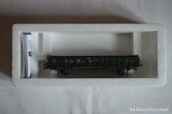Trenes Escala: Vagón plataforma borde bajo verde DB sólo un enganche. Esc. H0. Roco. romanjuguetesymas. - Foto 6 - 204687930