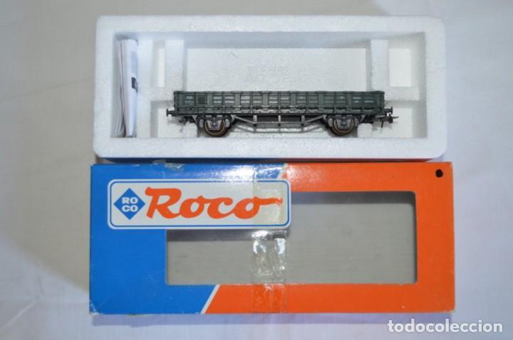 Trenes Escala: Vagón plataforma borde bajo verde DB sólo un enganche. Esc. H0. Roco. romanjuguetesymas. - Foto 10 - 204687930
