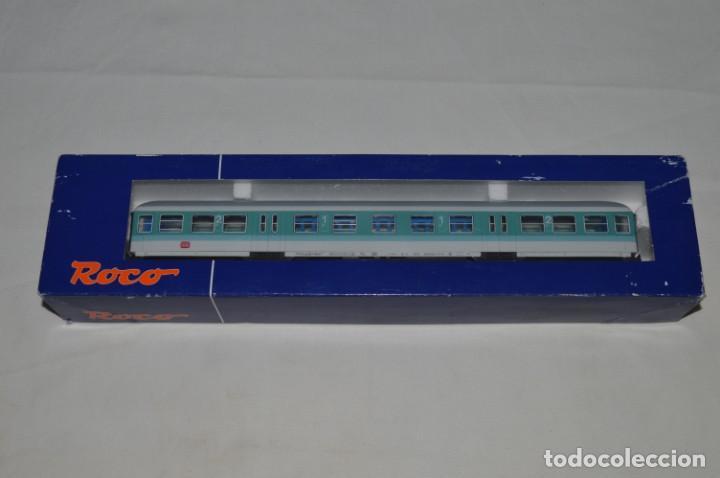 Trenes Escala: Vagón de pasajeros de 1ª y 2ª clase de la DB. Esc. H0. Roco. romanjuguetesymas. - Foto 12 - 205713583