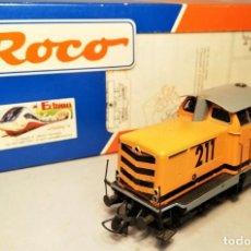 Trenes Escala: ROCO #43635. ESCALA H0. LOCOMOTORA RENFE V211 181-3 GUINOVART. DIGITAL. Lote 206879250