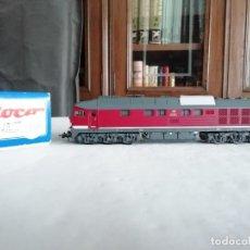 Trenes Escala: ROCO H0 43704 LOCOMOTORA DIÉSEL BR 232 100-8 LUDMILLA DB ALEMANA NUEVA. Lote 208385812