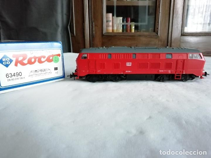 ROCO H0 63490 LOCOMOTORA DIÉSEL BR 215 126-4 DB AG ALEMANA DIGITAL NUEVA (Juguetes - Trenes a Escala H0 - Roco H0)