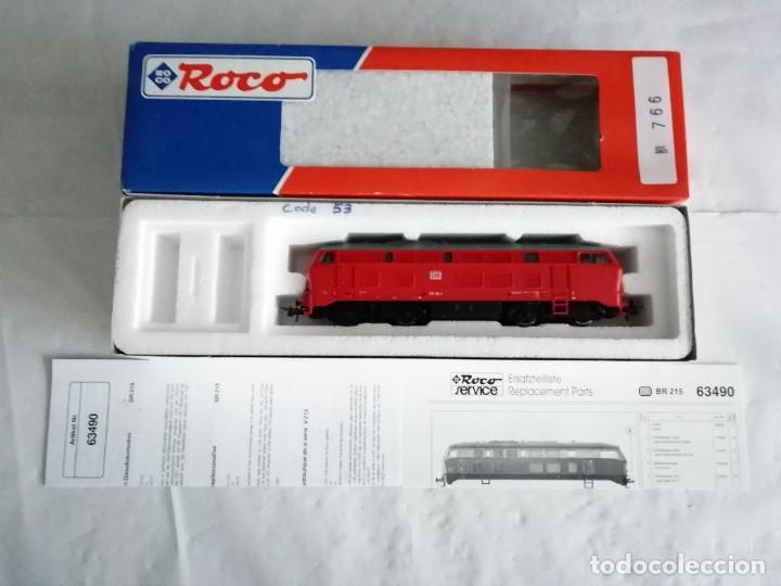 Trenes Escala: Roco H0 63490 Locomotora Diésel BR 215 126-4 DB AG Alemana Digital Nueva - Foto 2 - 208481851