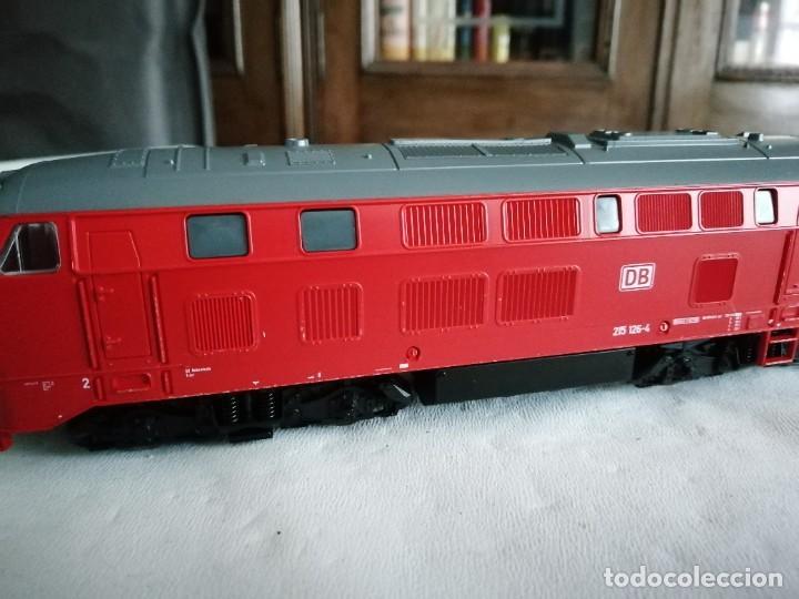 Trenes Escala: Roco H0 63490 Locomotora Diésel BR 215 126-4 DB AG Alemana Digital Nueva - Foto 5 - 208481851