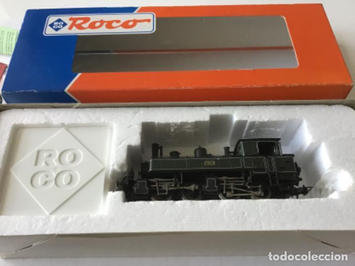LOCOMOTORA H0 ROCO VAPOR VERDE. ÚNICA EN TODOCOLECCION. DE VITRINA (Juguetes - Trenes a Escala H0 - Roco H0)