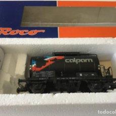 Trenes Escala: H0 ROCO VAGÓN CISTERNA CALPAM. ÚNICO. PRECIOSO, DE COLECCIONISTA. Lote 210236975