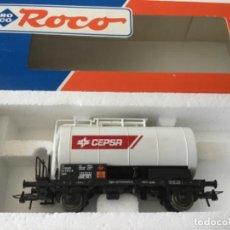 Trenes Escala: H0 ROCO VAGÓN CISTERNA CEPSA. REF. 46710. DE MUSEO, SIN USO.. Lote 210238850