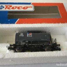 Trenes Escala: H0 ROCO CISTERNA ELF REF.47821. DE VITRINA. SIN USO. ÚNICO.. Lote 210244910