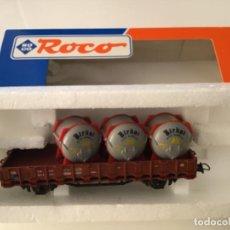Trenes Escala: H0 ROCO VAGÓN TRANSPORTE BIDONES BIRKEL. DE VITRINA.. Lote 210679469