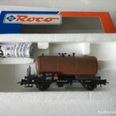 Trenes Escala: ROCO H0 VAGÓN CISTERNA OXIDADO ENVEJECIDO PROFESIONAL MODELISMO REF 46804 RENFE. ÚNICO. DE VITRINA.. Lote 210785280