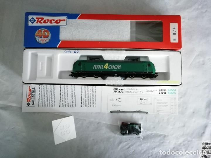 Trenes Escala: Roco H0 63564 Locomotora Eléctrica 145-CL 004 RAIL4CHEM Nueva - Foto 2 - 213410776