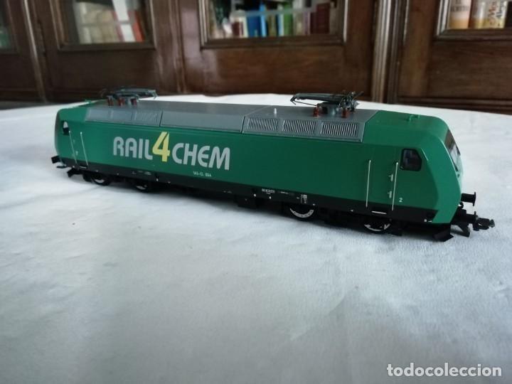 Trenes Escala: Roco H0 63564 Locomotora Eléctrica 145-CL 004 RAIL4CHEM Nueva - Foto 6 - 213410776