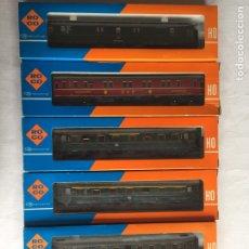 "Trenes Escala: ROCO H0, CONJUNTO 6 COCHES ""LUCIOS"". Lote 213414883"