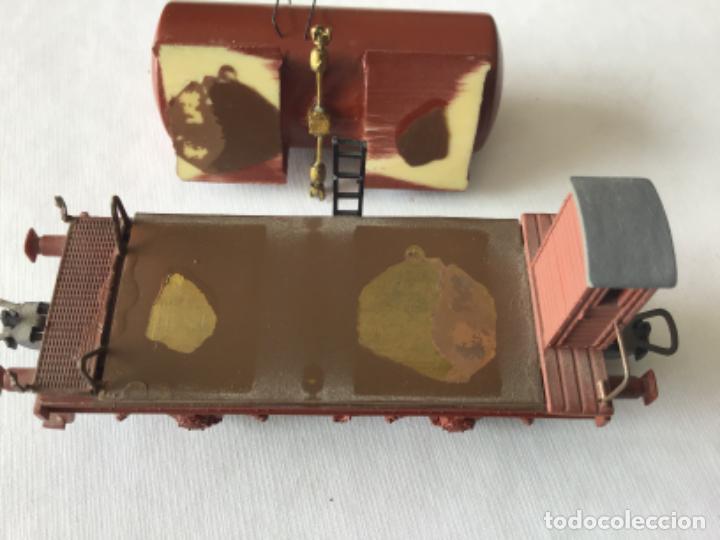 Trenes Escala: H0 Roco. Vagón cisterna con garita. Ref. 48039. Precioso, muy buen estado. - Foto 8 - 214723326