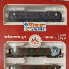 Trenes Escala: CONJUNTO COCHES DE VIAJERO DE ÉPOCA ROCO H0. Lote 218488512