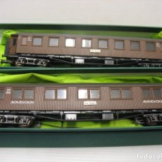 Trenes Escala: PAREJA DE COCHES DE DINAMARCA OSLO-BERGEN ROCO 1º-2º -3º HO. Lote 221818368