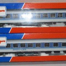 Trenes Escala: CONJUNTO TREN H0 ROCO INTERREGIO VAGONES REF. 45051-45052, NUEVOS Y CON CAJAS.. Lote 80884575