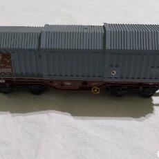 Trenes Escala: ROCO HO 76047. VAGON PARA TRANSPORTE DE BOBINAS DE ACERO. DISEÑO SHIMMNS. Lote 224390221
