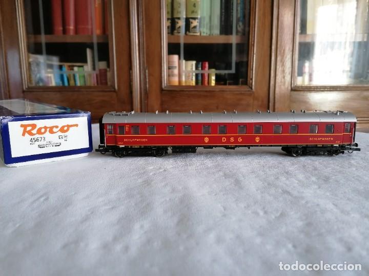 ROCO H0 45673 VAGÓN COCHE CAMA TIPO WL4Ü-28 DSG ALEMÁN NUEVO OVP (Juguetes - Trenes a Escala H0 - Roco H0)