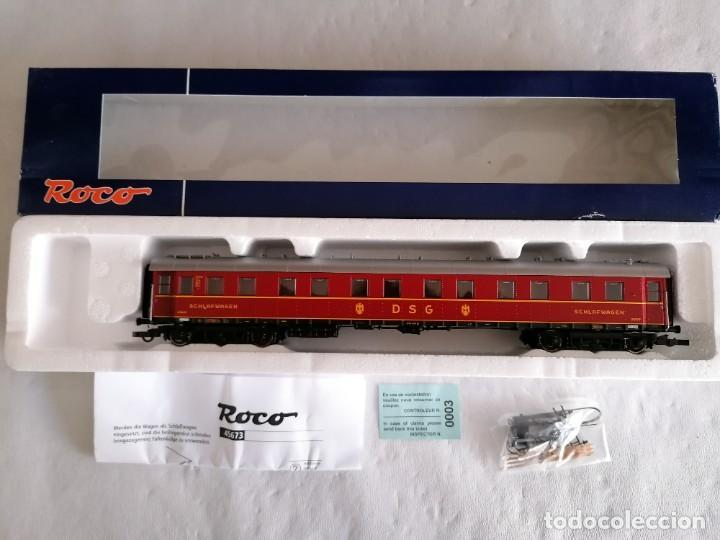 Trenes Escala: Roco H0 45673 Vagón Coche Cama Tipo WL4ü-28 DSG Alemán Nuevo OVP - Foto 2 - 225207560