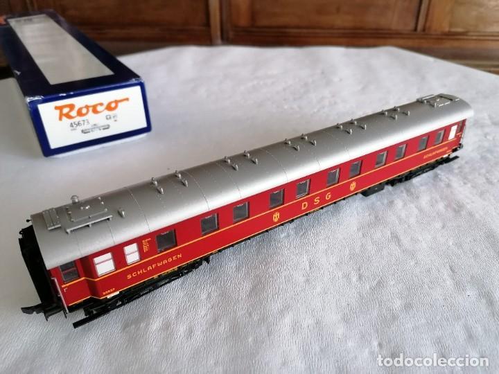Trenes Escala: Roco H0 45673 Vagón Coche Cama Tipo WL4ü-28 DSG Alemán Nuevo OVP - Foto 10 - 225207560