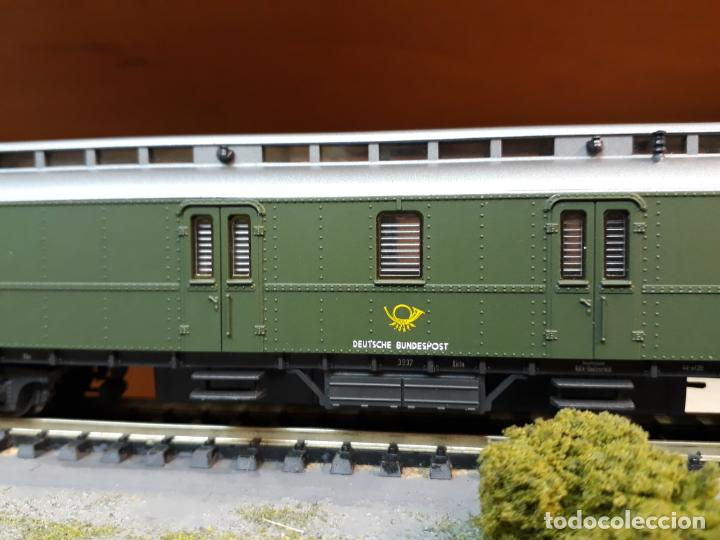 ROCO H0 COCHE-FURGÓN POSTAL, DE LA DB POST, REFERENCIA 44454. (Juguetes - Trenes a Escala H0 - Roco H0)