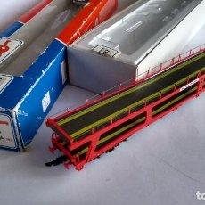 Trenes Escala: ROCO H0 VAGÓN PORTA COCHES EN CAJA. VÁLIDO IBERTREN,MARKLIN,ETC. Lote 232270520