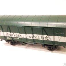 Trenes Escala: JIFFY VENDE VAGÓN LILIPUT H0 CERVEZA JEVER PILSENER. VAGÓN CERVECERO FRIESISCH-HERB. REFJ2.. Lote 236912540