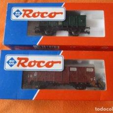 Trains Échelle: ROCO HO. LOTE 2 VAGONES: Nº 46948 Y Nº 46835. CAJAS ORIGINALES.. Lote 240956215