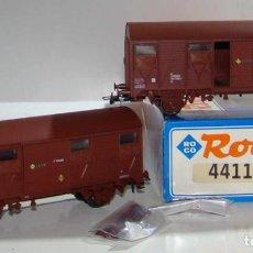 Comboios Escala: ROCO SET DE 2 VAGONES CERRADOS RENFE REF: 44115 ESCALA H0. Lote 243351230